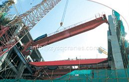 QD Medium To Heavy Duty Double Girder Eot Crane