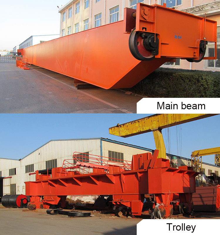 Double Girder Eot Crane With Chain Hoist Trolley