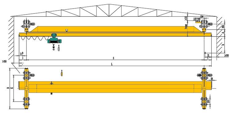 LX Electric Single Girder Under-Slung Crane