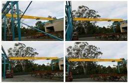 6 Units SANTO Single Girder Overhead Crane Exporting to Australia